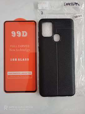 Samsung A21S Softcase Tempered Glass