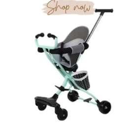 Stroller exotic 475rb Ready ada rem,roda menyala,alas duduk &keranjang