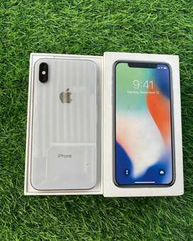 iPhone , Iphone X 64Gb Silver Mewah Mulus Terawat No Face id