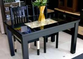 Meja + Kursi Makan Kerang MDC Set (Hiasan Pasir & Kerang Asli)