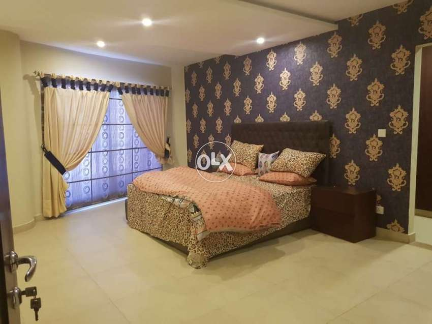 2bed rooms luxury furnished4rent60000in height6phase8bahria town rwp 0