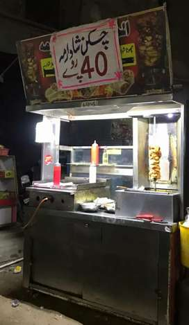 Urgent Sale Shwarma Machine with Counter with hot Plate ...