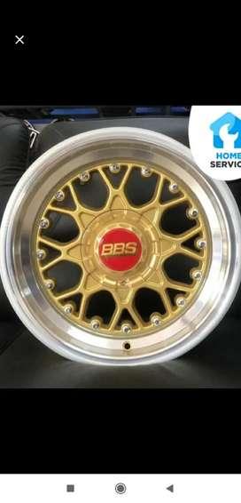 Jual velg bbs RS 15x8.0/9.0 8x100/114.3 et35/25 gold