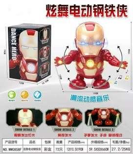 SUPER HERO DANCE MAINAN ANAK ROBOT JOGET IROMAN SPIDERMEN