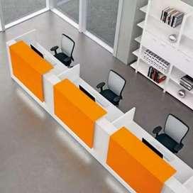 Meja resepsionis,meja kantor,rak toko