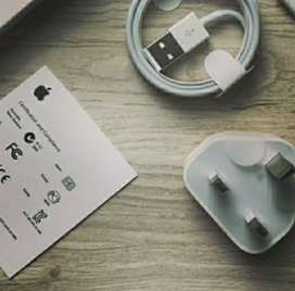 Charger + Kabel Data Original Lightining iPhone KAKI 3 Garansi