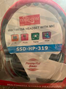 Tech com multimedia headset with mic