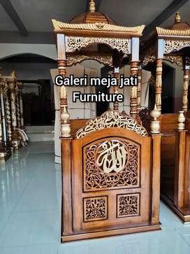 Mimbar Masjid.kuba wood minimalis B32 talk