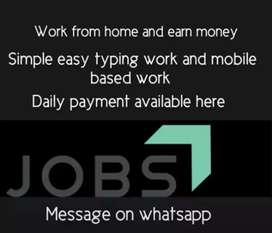 Opportunity in mobile work with daily payment