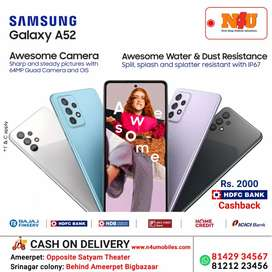 Samsung A52 now avl on no cost emi with Aadhar for cibil customers