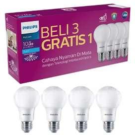 Philips Paket Lampu LED MyCare 10W Putih Bulb (Isi 4 Pcs)PROMO GARANSI