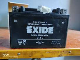 New Exide ETZ 9 battery for sale with bill
