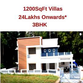 900SqFt villas near ottapalam and pathirippala