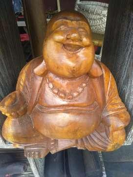 Patung kayu dewa uang