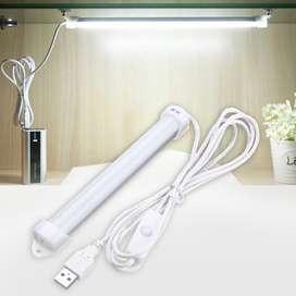 Lampu Neon LED USB Belajar Kerja Rumah Komputer Cahaya Tempel Portable