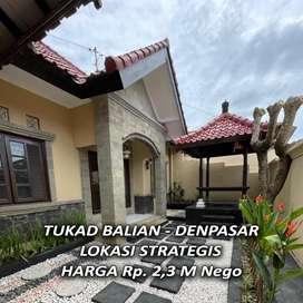 DI JUAL : Rumah di Kawasan Strategis, Dekat Pantai Sanur - Bali