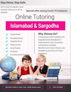 Female Home Tutor and Online