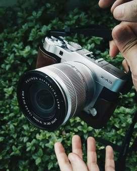 (NEGO) Mirrorless Camera Fujifilm XA-3 Lengkap Kondisi OK + BONUS!