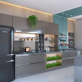 Kitchen set hpl .furniture rumah tangga