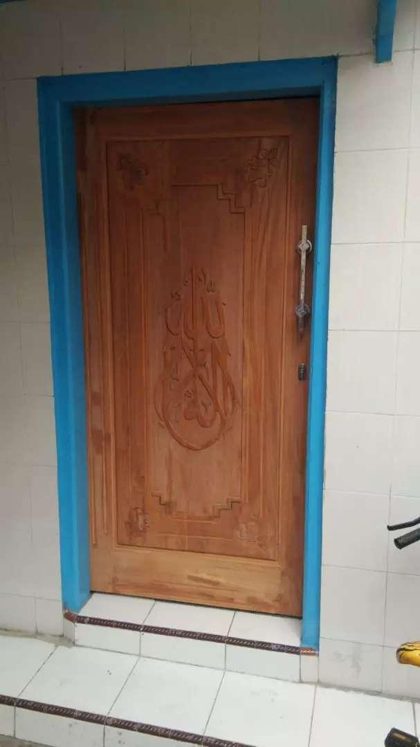 pintu ukir kayu jati full
