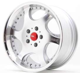 pelek racing lubang 5 buat civic type Gangnam 6052 Ring 17x75-85