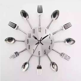 Cutlery Kitchen Spoon and Fork Wall Clock