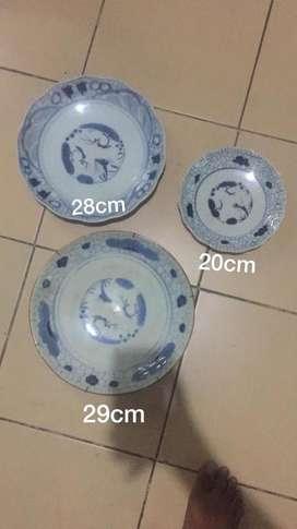 piring keramik antik set