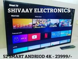 52 INCHES SMART ANDRIOD 4K UHD PANNEL WITH BEST QUALITY BEST PRICE