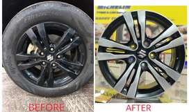 DIAMOND CUT FINISH FOR YOUR NORMAL ALLOY WHEELS.