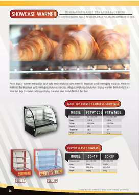 Food warmer ayam chicken ( crown ) tempat pemanas kaca
