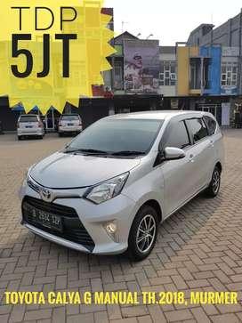 TDP 5jt, Toyota Calya th.2018, tipe G, Manual, Murmer