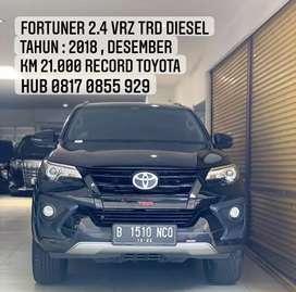 Fortuner 2.4 VRZ TRD Sportivo Diesel 2018, Km 20rb.an Record Toyota