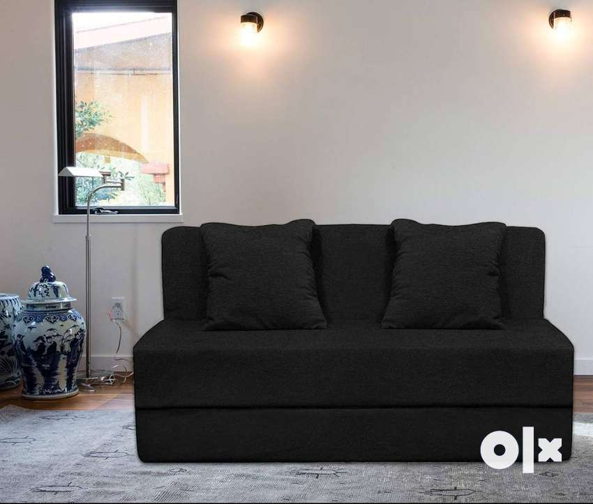 Sofa cum bed 6x3 with cushion for your bedroom as extra bedding