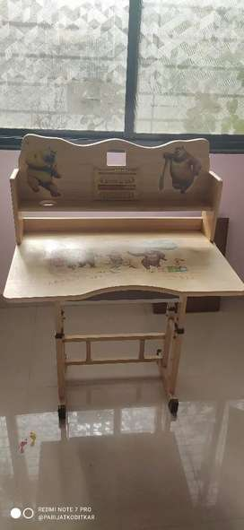 Kid's Study Table with Clock