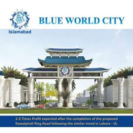 7 Marla Plot file for sale in Overseas block  Blue World City.