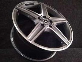 jual velg mobil mercy ludwig am5052 R18x8 5x112 offset35 grey