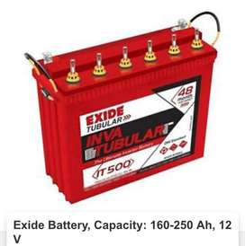 All types of batteries & inverters at cheapest rates..