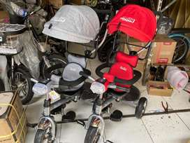 Sepeda Stroller Tricycle Roda Tiga FAMILY F 362 Tudung Musik Dorong