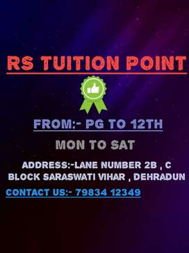 Tuition classes from PG to class 12th