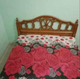 Tempat tidur ranjang dipan kayu (tanpa kasur) second