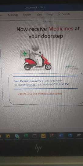 Medicine delivery boy for Patna