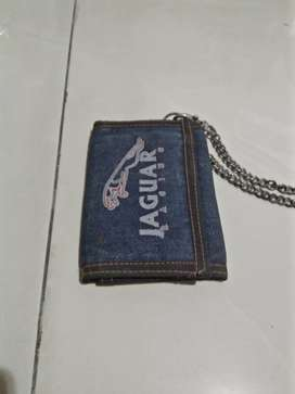 Jual dompet bahan jeans ada rante nya keren gan