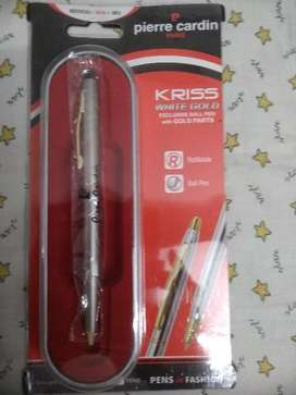 Pierre cardin Paris Kriss White Gold Ball Pen.