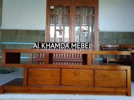 Ready Buvet Tv Minimalis Bahan Kayu Jati Monggo @496