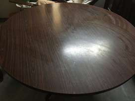 Round Wooden dining table on metal frame