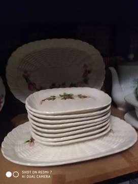 Piring  kue keramik Jepang 10 pcs