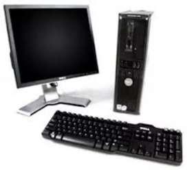 Dell cor2duo 2gb ram 320gb HDD 17inch lcd win10/ 64 bit