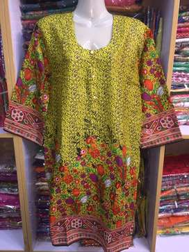 Digital and Printed Linen and KHADA Shirt Kurti  Airline in Free size
