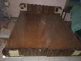 Double bed ( without box) solid quality