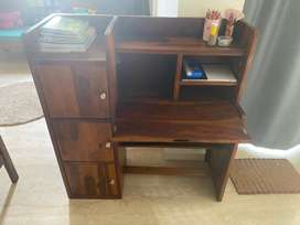 Brand new study table of sessham wood with storage soace